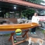 เรือไม้สัก แบบโต๊ะ ยาว 300 ซม (ส่งทั่วประเทศ) thumbnail 1