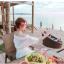 เดรสสีขาว สไตล์ปาดไหล่ งานสวยลายฉลุหวานน่ารักมากกกกก ถ่าย pre-wed ถ่ายชิวทะเลได้เลยจ้า แบบสวม เอวสมอค thumbnail 3