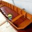 เรือไม้ตะเคียนทอง 500 ซม ชันยาเรือ ลงน้ำพายได้เลย แถมไม้พาย (ส่งทั่วประเทศ) มีแพน thumbnail 11