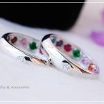 แหวนพูนทรัพย์พลอยนพเก้า หุ้มทองคำขาวแท้