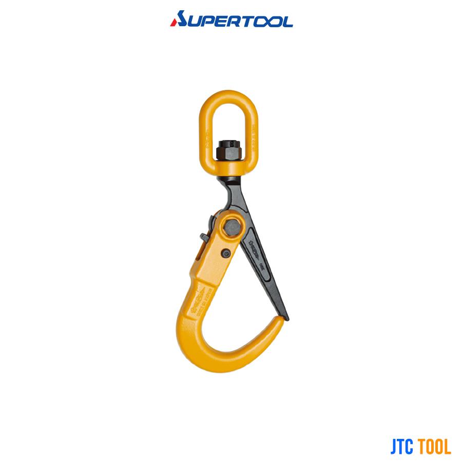 ตะขอยกเหล็ก ห่วงหมุนรอบตัว - Super Lock Hook (with Swivel) SUPERTOOL