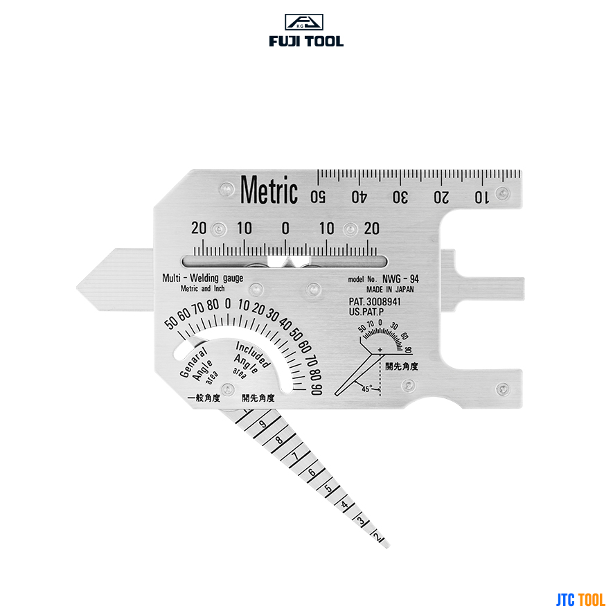 เกจวัดแนวเชื่อม - MULTI-WELDING GAUGE METRIC TYPE NWG-94 (STAINLESS STEEL) Fuji tool
