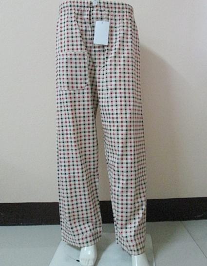 กางเกงนอนขายาว(ชาย) ผ้าคัตตอน เกรด เอ แบบลาย โทนสีแดง ไซส์ L