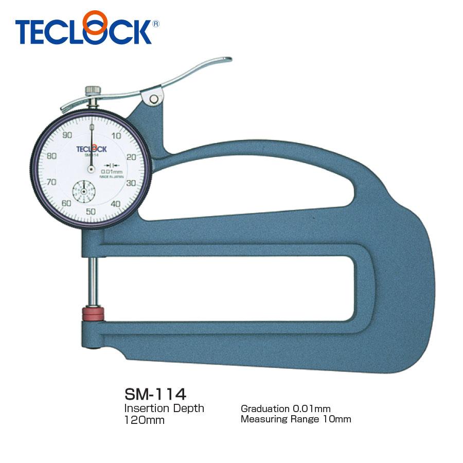 ไดอัลเกจวัดความหนาแบบลึก - Dial Thickness Gauge (SM-114) Teclock