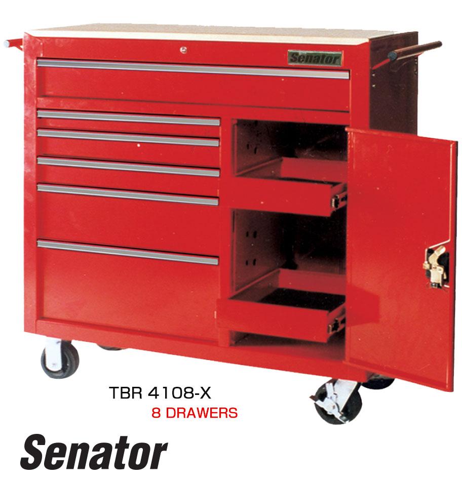 รถเข็นเก็บเครื่องมือ 8 ลิ้นชัก / 8 Drawers Superwide Tool Trolley (Senator)