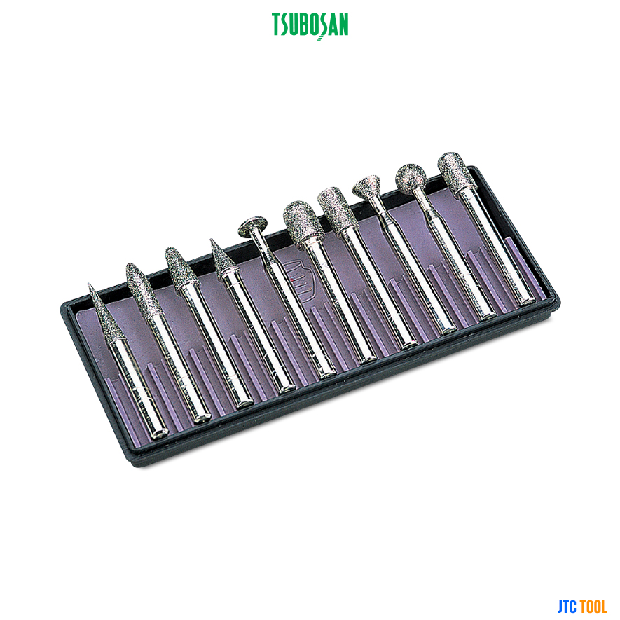ดอกเจียรเพชร (SET) - DIAMOND-BIT 10shapes (DRST11F) Tsubosan