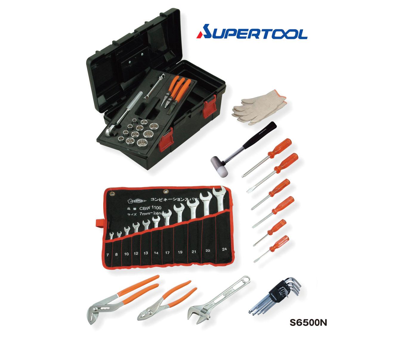 ชุดเครื่องมือพร้อมหีบ (48/Q'ty) - TOOL SET (Standard Set) SUPERTOOL