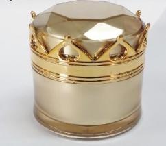 กระปุกครีมอคิลิค หัวมงกุฎ หรูหรา ขนาด 10 กรัม สีทอง จำนวน 100 ชิ้น