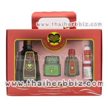 ชุดกล่อง Gift Set หัวใจทอง (กล่องแดง)