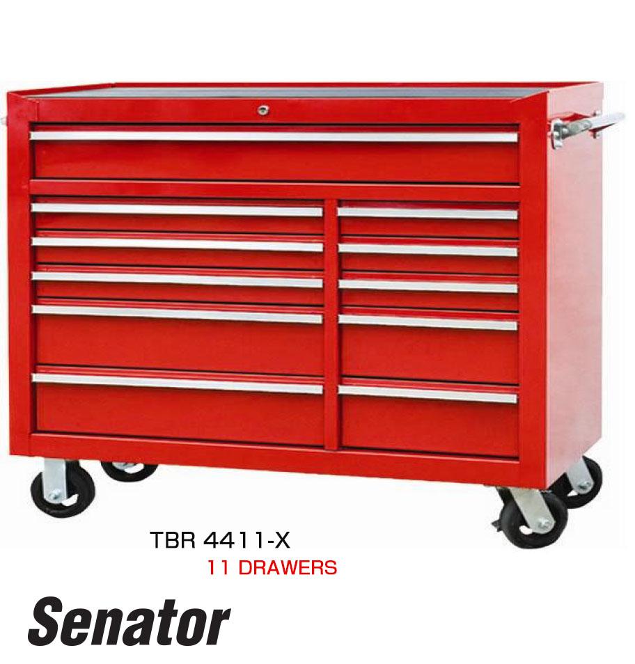 รถเข็นเก็บเครื่องมือ 11 ลิ้นชัก / 11 Drawers Superwide Tool Trolley (Senator)