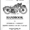 CD คู่มือซ่อม มอเตอร์ไซค์ AJS Trophy Models 3.46 H.P. 4.95 H.P. ปี 1933 (EN)